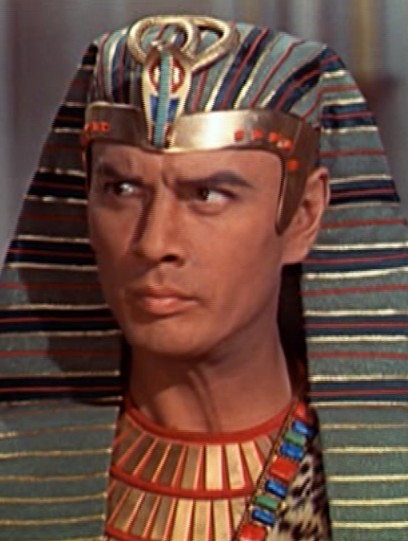 "Yul Brynner from the motion picture ""The Ten Commandments"""