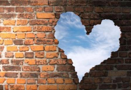 walls broken heart