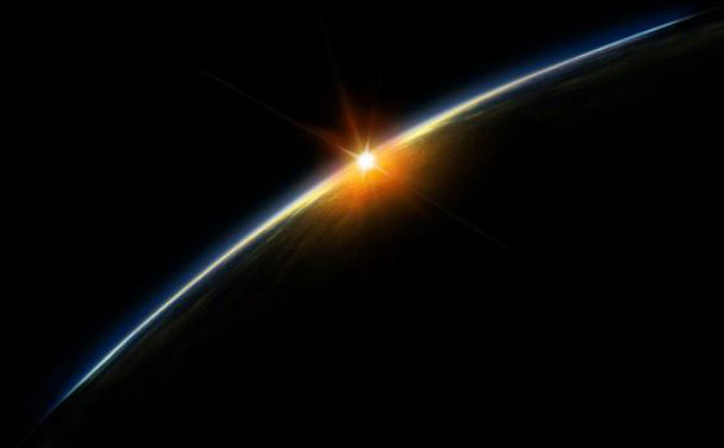 sun over earth