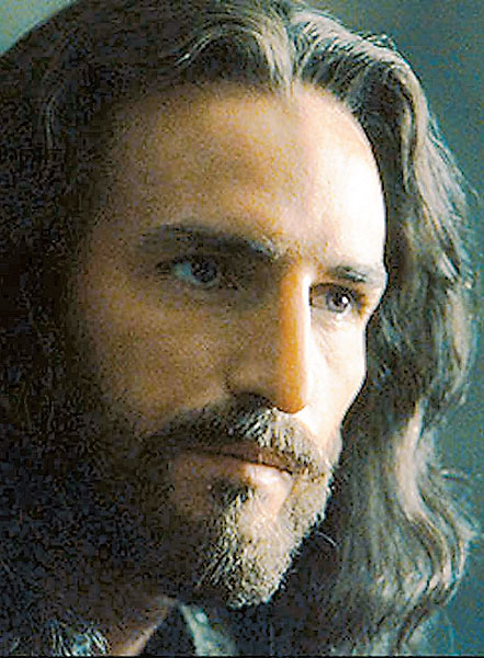 Jim Caviezel playing Jesus