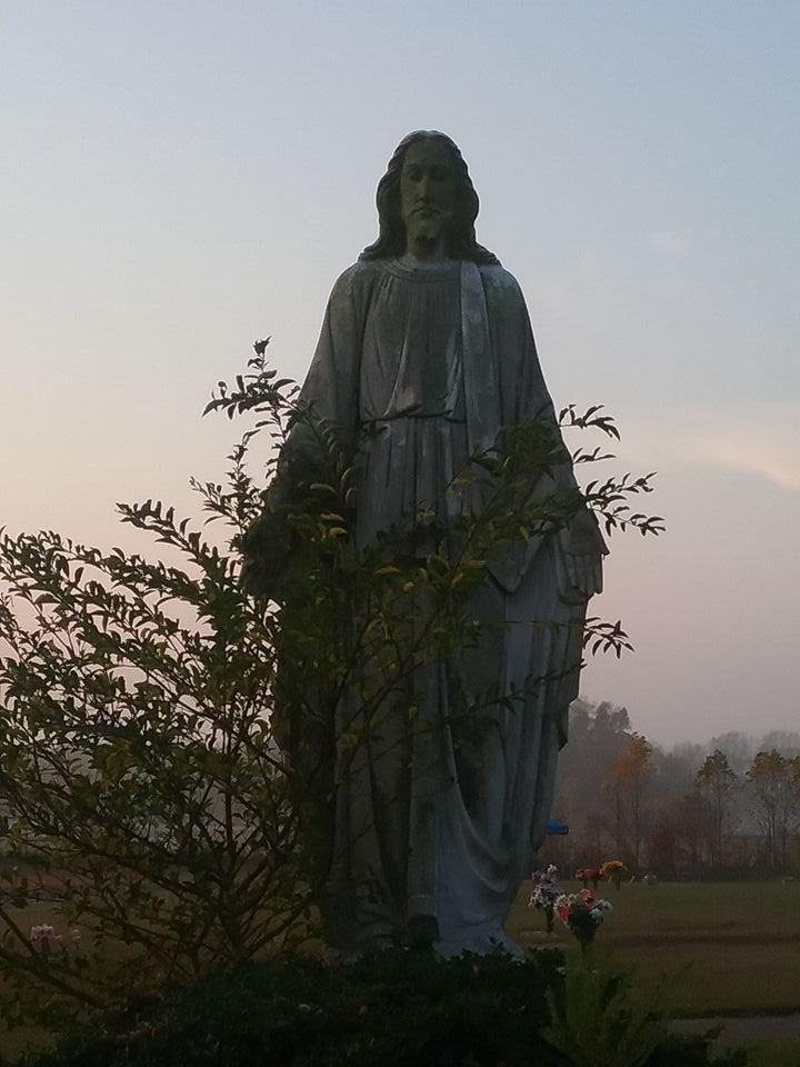 Jesus in Graveyard. (c) 2017. Brian Chilton.