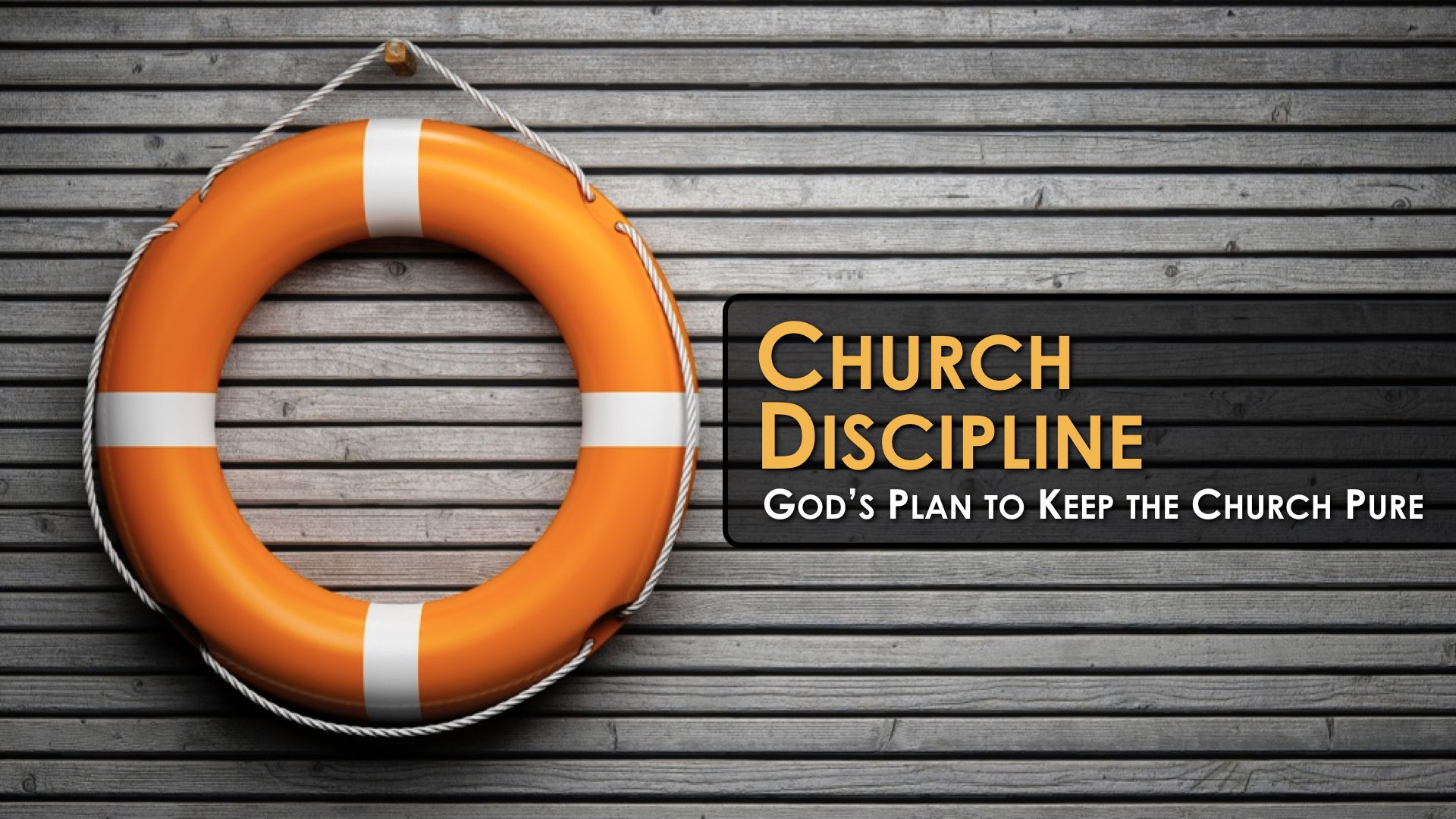 church discipline