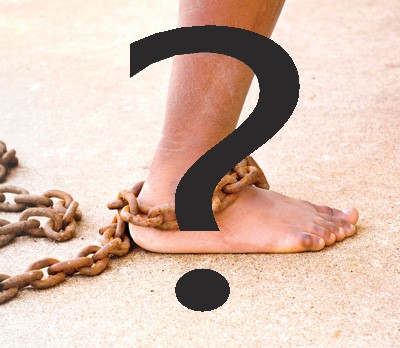 slavery with question mark